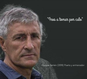 Foto: Quique Setién, entrenador y poeta