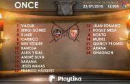 Once del Sevilla FC contra el Levante