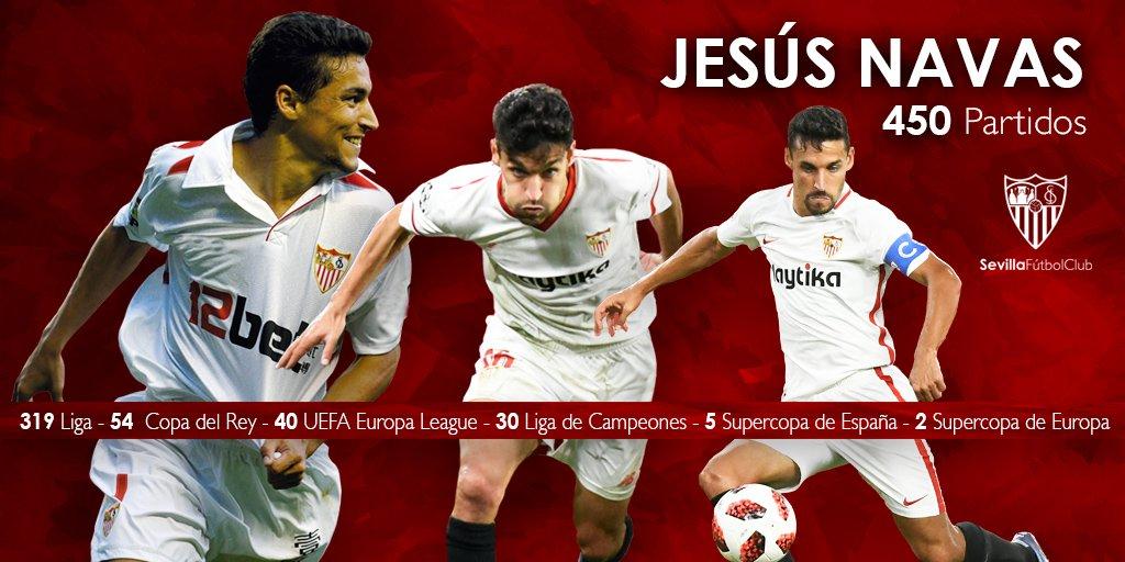 Foto: Resumen de los 450 partidos de Jesús Navas con el Sevilla FC