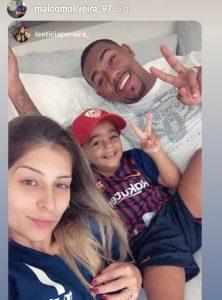 Foto: El hijo de Malcom con una gorra del Sevilla FC…