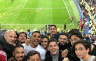 Foto: Mercado celebró la victoria de River en el Bernabéu