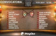 Lista de 18 para Madrid con Bryan