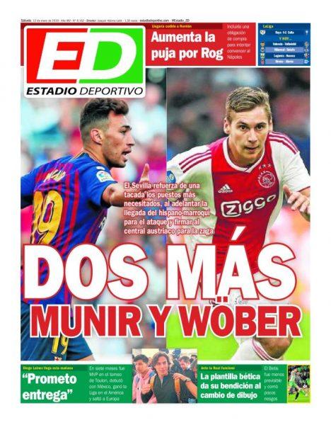Portada ED - Dos más, Munir y Wöber