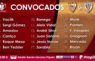 Lista de 18 para la vuelta de Copa contra el Athletic