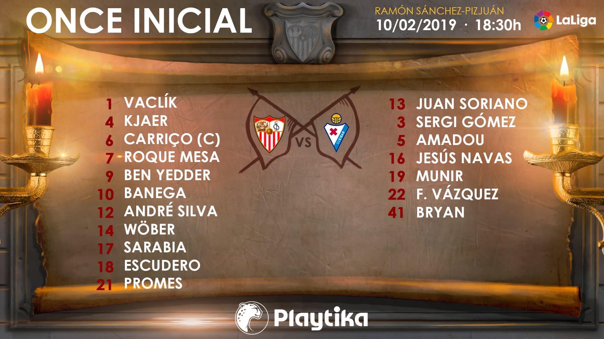 Once del Sevilla FC contra el Eibar