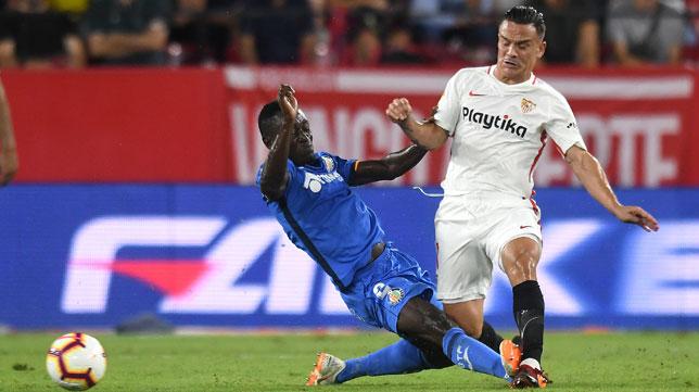 Bordalás prepara una defensa inédita para recibir al Sevilla