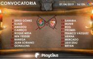 Lista de 18 para Valladolid con tres novedades