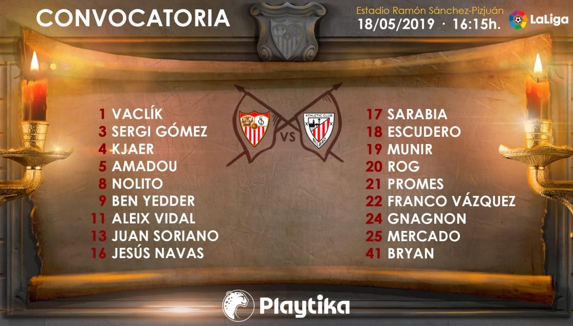 Lista de convocados para el último partido de LaLiga