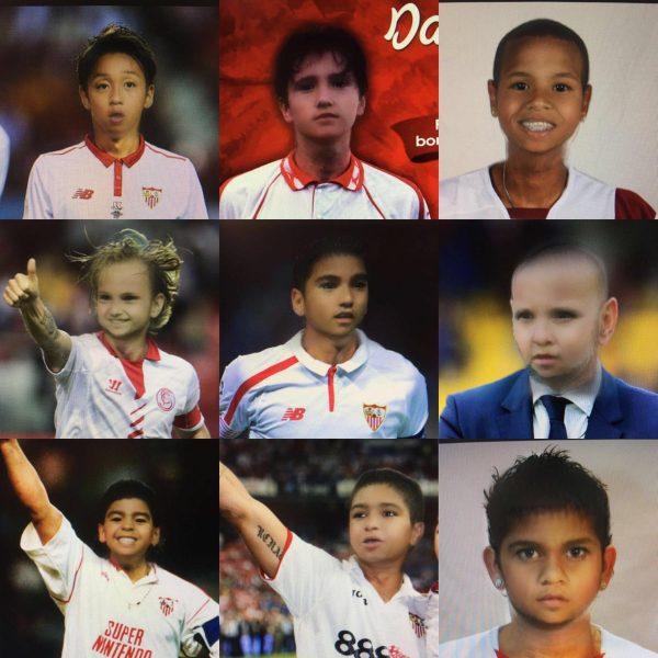 Foto: Babyface de jugadores del Sevilla FC, versión clásicos