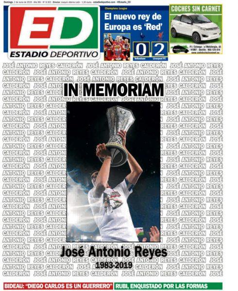 Portada ED - In Memoriam José Antonio Reyes (1983-2019)