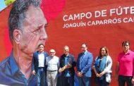 Fotos: Rotulado el campo de 'La Beneficencia' de Cuenca con el nombre de Joaquín Caparrós