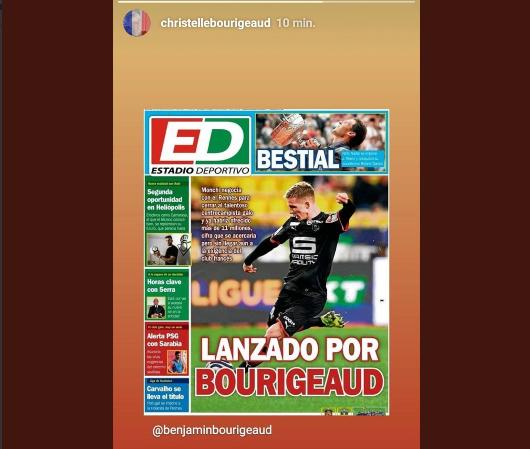Foto: La publicación de la madre de Bourigeaud en Instagram... ¿su fichaje está más cerca? vía @SevilleinfoF
