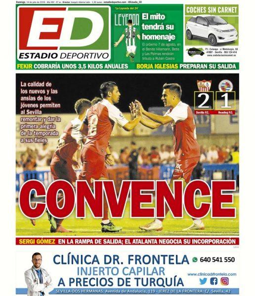 Portada ED - Convence y Sergi Gómez en la rampa de salida