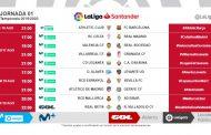 Foto: Horarios de las tres primeras jornadas de LaLiga 2019/20