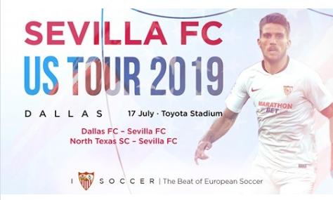 Horario y dónde ver en televisión el Dallas - Sevilla FC