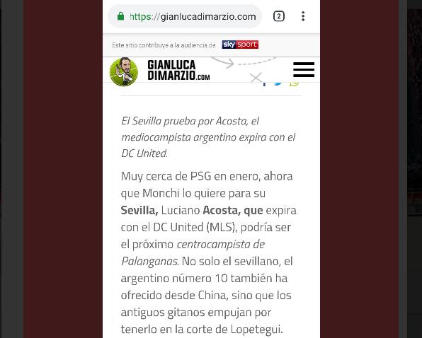 Di Marzio llamándonos palanganas y gitanos en la traducción al castellano de su web, vía @rasilosfc4