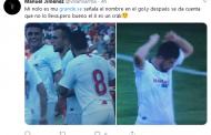 Foto: Nolito se señaló su nombre en la camiseta en el gol...