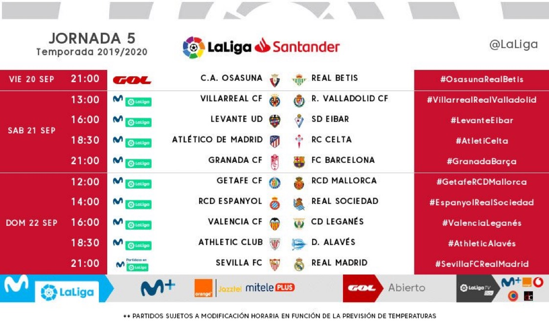 Foto: Ya hay horario para el Sevilla FC - Madrid de la Jornada 5