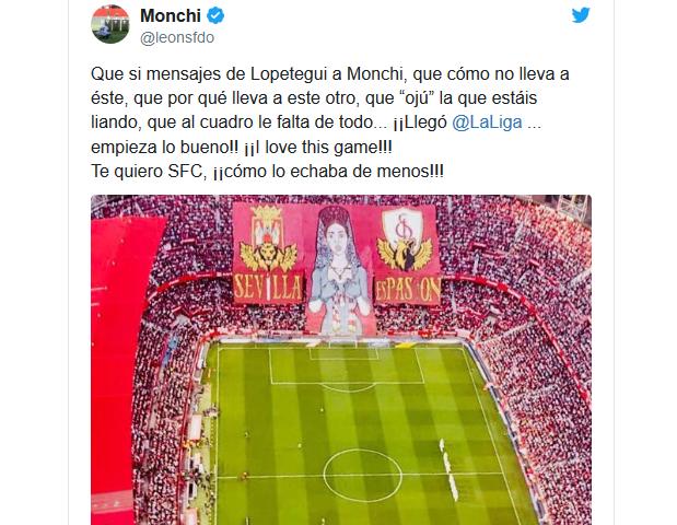Monchi responde en la redes sociales a la convocatoria de Lopetegui