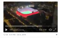 Vídeo: No te puedes perder esta espectacular perspectiva noctura del Sánchez-Pizjuán desde un avión