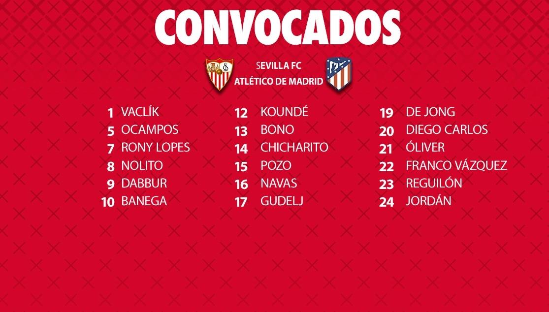 Revolución en la lista de 18 para recibir al Atlético