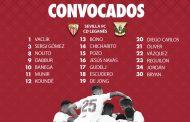 Lista de 20 del Sevilla FC para recibir al Sevilla FC