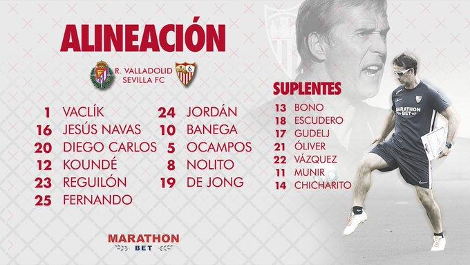 Once del Sevilla FC contra el Real Valladolid