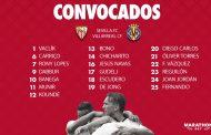 Lista de 19 para el Villarreal