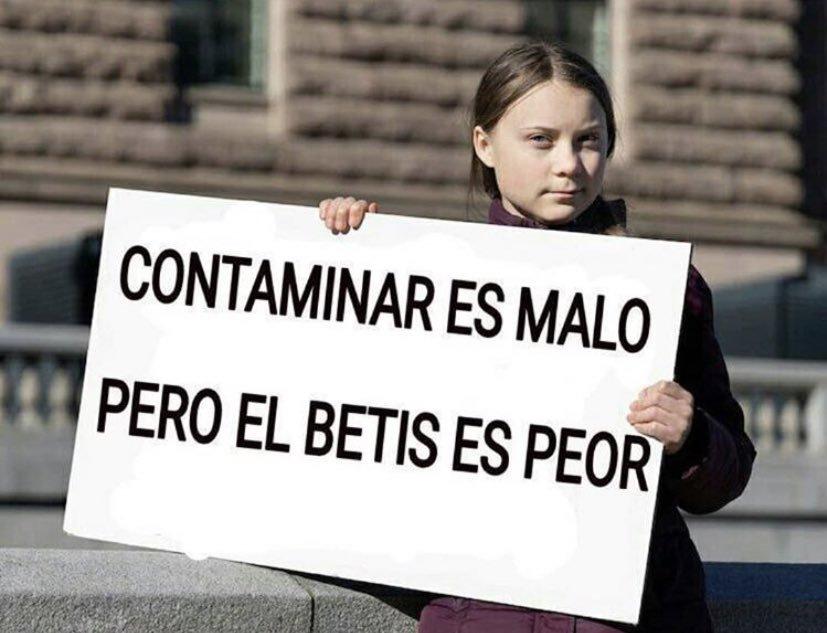 Foto: El mensaje de Greta Thunberg que no ha gustado en la Ciudad del Betis