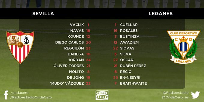 Once del Sevilla FC contra el Leganés