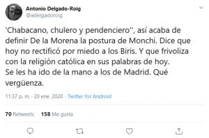 Los insultos de José Ramón de la Morena a Monchi
