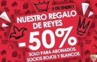 Descuento del 50% en la tienda del Sevilla FC sólo este 5 de Enero