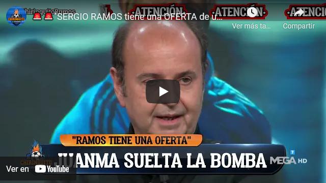 BOMBAZO en 'El Chiringuito': 'Sergio Ramos tiene una oferta del Sevilla de 5 años'